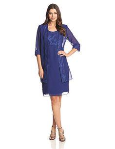 Dana Kay Women's Glitter Trimmed Duster Jacket Dress, Sapphire, 8 Dana Kay http://www.amazon.com/dp/B00NOVFBJM/ref=cm_sw_r_pi_dp_WQScvb0C51R87