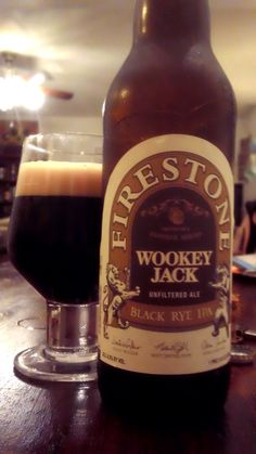 Firestone Walker Wookey Jack black rye IPA, best black IPA I've had to date