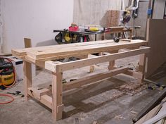Dining Room Table DIY- Erin Loechner - love this heavy-duty and rustic style!
