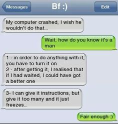 Text funny