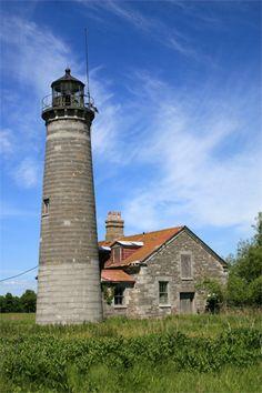 Galloo Island Lighthouse, New York at Lighthousefriends.com