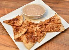 Sunne dessert-nachos med sjokoladedip (Bakekona)