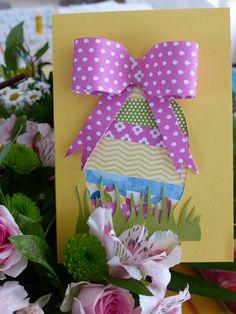 """Une carte DIY facile """"Oeuf de Pâques"""""""