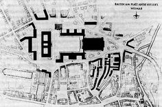 Architectural Map of The Gauforum, Weimar 1936