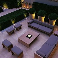 multi use - large group seating & the garden behind provides intimacy with…