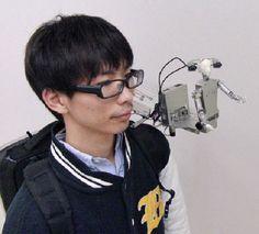 The MH-2 is a wearable miniature humanoid telepresence robot (Photo: Yamagata University)