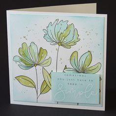 De 3 kaarten in dit blogbericht zijn gemaakt met een watercolour paperpad van Karin Joan. Flower Lights, Cricut Cards, Flower Cards, Bloom, Studio, Flowers, How To Make, Crafts, Cards