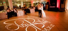 Wedding uplighting and Gobo