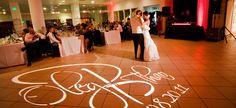 Wedding uplighting and Gobo