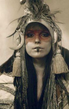 Tribal makeup. Jessica Atreides
