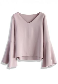 Swingy Pastel Pink Top with Flare Sleeves #SummerPicks