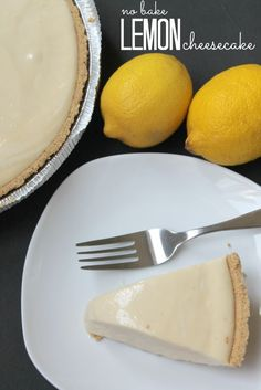 No Bake Homemade Lemon Cheesecake! Easy Dessert Recipe!