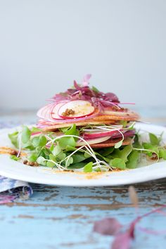 APPLE AND RADISH SALAD WITH FIG VINAIGRETTE