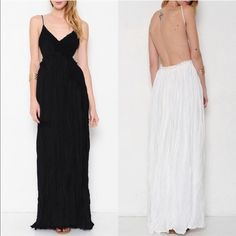🆕AILANI blossom Backless maxi dress  - BLACK 🎉HP 8/30🎉Jaw dropping maxi dress oozing with sex appeal yet hippie girl. Can be worn dressed up or down. Who is daring enough to rock this? Fully Lined. 🚨NO TRADE, PRICE FIRM🚨 striped Bellanblue Dresses Maxi