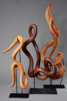 'Nouveau Series' in Cherry, Walnut, and Steel....I love that you can take them off their stands and hold them.