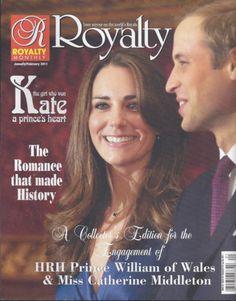 Prince William & Kate Middleton in Royalty magazine