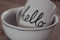 Decorate plates, mugs & bowls with a Sharpie ; ) - Fun & Easy! - 10 Easy DIY Projects To Try This Weekend