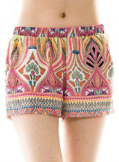 Oracle Boho Print Shorts