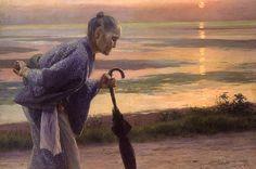 File:Old Woman by Wada Eisaku (National Museum of Modern Art, Tokyo). Klimt, Gabriel, Jules Cheret, Yoga Painting, Top Paintings, Art Of Love, Leonardo, Japanese Painting, Artist Life