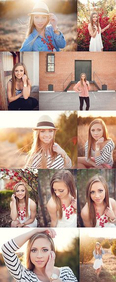 Beautiful lighting and location for senior shoot. Some cute poses...less hands