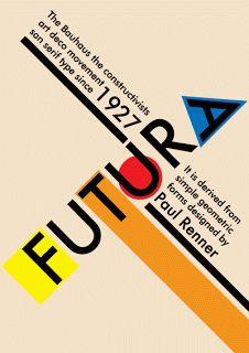 "Futura Bauhaus style Paul Renner was a prominent member of the Deutscher Werkbund (German Work Federation). Two of his major texts are ""Typografie als Kunst"" (Typography as Art) and ""Die Kunst. Poster Design, Graphic Design Posters, Graphic Design Typography, Graphic Design Inspiration, Design Bauhaus, Bauhaus Logo, Bauhaus Art, Bauhaus Style, Bts Design Graphique"