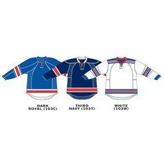 New York Rangers Reebok Edge Gamewear Uncrested Adult Hockey Jersey