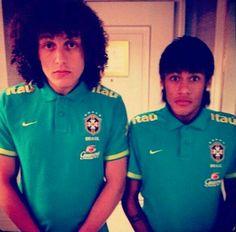 David Luiz e Neymar Football Soccer, Football Players, Love You Babe, Neymar Jr, Best Player, Black People, Fifa, Superstar, Beautiful People