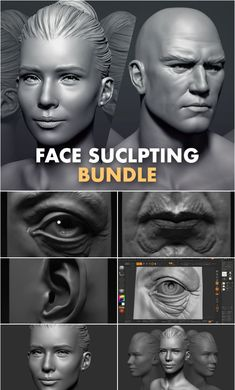 Sculpting the Facial Features in ZBrush Sculpting a Realistic Male Face in ZBrush Sculpting a Realistic Female Face in ZBrush Learn how to sculpt a realistic… 3d Tutorial, Digital Art Tutorial, Blender 3d, Sculpting Tutorials, Art Tutorials, Zbrush, Digital Sculpting, Character Modeling, 3d Character