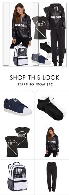 """""""Nike City Packable"""" by ilona-828 ❤ liked on Polyvore featuring White Label, adidas, NIKE, Under Armour, Donna Karan, women's clothing, women, female, woman and misses"""