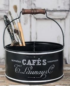 Glory & Grace Rustic French Script 4 Section Kitchen, Garden, Crafts, Coffee Pod Storage Caddy Glory & Grace Tin Can Crafts, Diy And Crafts, Coffee Pod Storage, French Script, Storage Caddy, Coffee Crafts, Rustic Kitchen, Industrial Farmhouse, Vintage Industrial