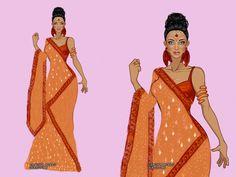 Look inspirado em roupas femininas indianas