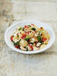 Baked ricotta & tomato orecchiette with broccoli, fresh oregano & chilli