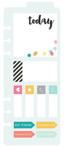Carpe Diem Bookmark & Sticky Notes - Simple Stories