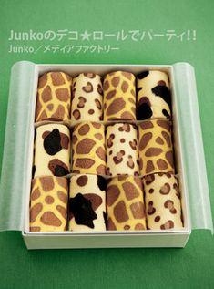 Junko - animal print decorated swiss roll
