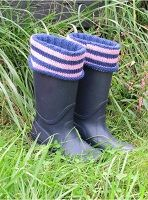 Striped Cuff Boot Sock, Liner, and Cuff Knitting Pattern Download