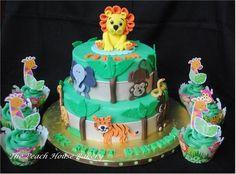 Safari theme First birthday cake  Cake by ThePHBakery