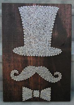 Mixed Media Nail Art Mustache. $75.00, via Etsy.