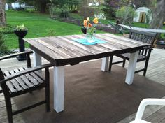 Outdoor pallet table! Completed!