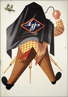 Agfa advertising poster, West Germany 1951                                                                                                                                                      Mehr