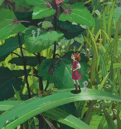 Arriety & Kodamas - Studio Ghibli