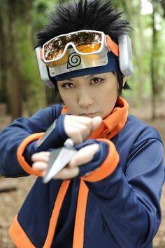 Uchiha Obito -Naruto Shippuden- Naruto Costumes, Naruto Cosplay, Male Cosplay, Best Cosplay, Naruto Shippudden, Kakashi, Sakura And Sasuke, Cosplay Makeup, Costumes