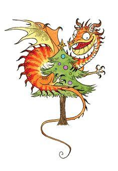 Dragon Christmas 3 by sandara.deviantart.com on @DeviantArt