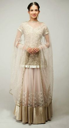 champagne beige lehengas - Google Search