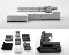 "B Italia ""Tufty by Patricia Urquiola. Modular Furniture, Modular Sofa, Sofa Furniture, Sofa Chair, Contemporary Furniture, Furniture Design, Patricia Urquiola, Living Room Inspiration, Furniture Inspiration"