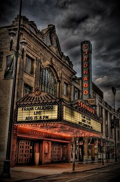 The outside of the Coronado #Theatre in Rockford, #IL  Watched many movies and saw many concerts, plays, etc