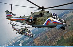 """Russian Air Force Mil Mi-24 """"Hinds"""""""