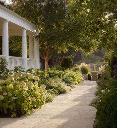 Garden Landscaping Tips on How To Grow Happy Hydrangeas, Gallerie B - I have always held a soft spot for hydrangeas. Although I am no green thumb, so have sought advice from Mark of VDB Gardens on how to grow happy hydrangeas. Fresh Farmhouse, Farmhouse Garden, Garden Cottage, Garden Bed, Farmhouse Landscaping, Garden Landscaping, Landscaping Ideas, Hydrangea Landscaping, Hydrangea Garden