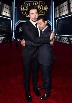 21 Times We All Fell Head Over Heels For Oscar Isaac// Oscar Isaac? Forget him!!! Adam Driver doesn't even like hugs, but he hugged Oscar!!!!