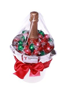 Wine/champagne in a bucket with chocolates, Great congratulations/celebratory gift