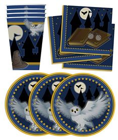 Birthday Galore Wizard Castle Birthday Party Supplies Set Plates Napkins Cups Tableware Kit For 16 Harry Potter Sorting Hat, Harry Potter Theme, Harry Potter Birthday, Party Kit, Party Packs, Party Ideas, Birthday Supplies, Party Supplies, Harry Potter Baby Shower